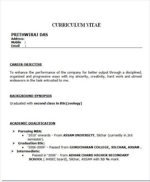 free fresher resume templates premium mba template hr special accomplishments on Resume Mba Fresher Resume Template Download