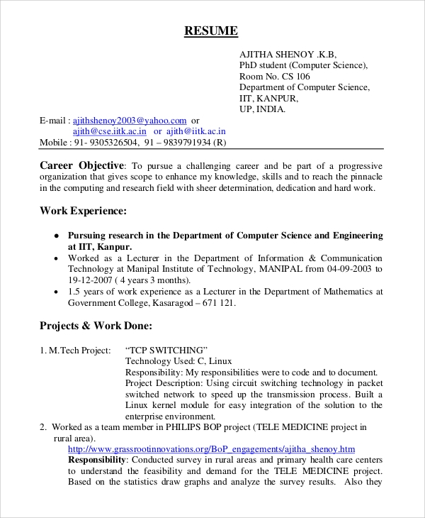 free general resume objective samples in pdf for experienced software engineers engineer Resume Objective For Resume For Experienced Software Engineers