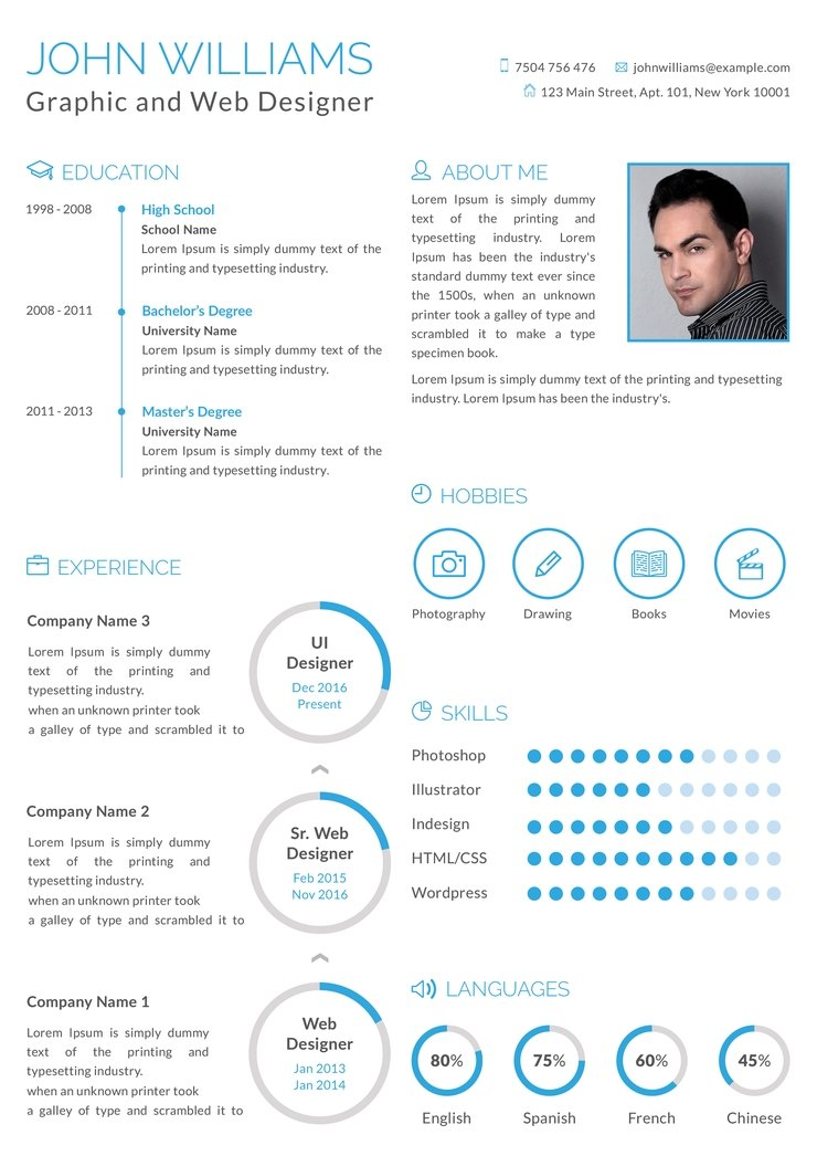 free graphic and web designer resume cv template in photoshop an creativebooster format Resume Web Designer Resume Format Free Download