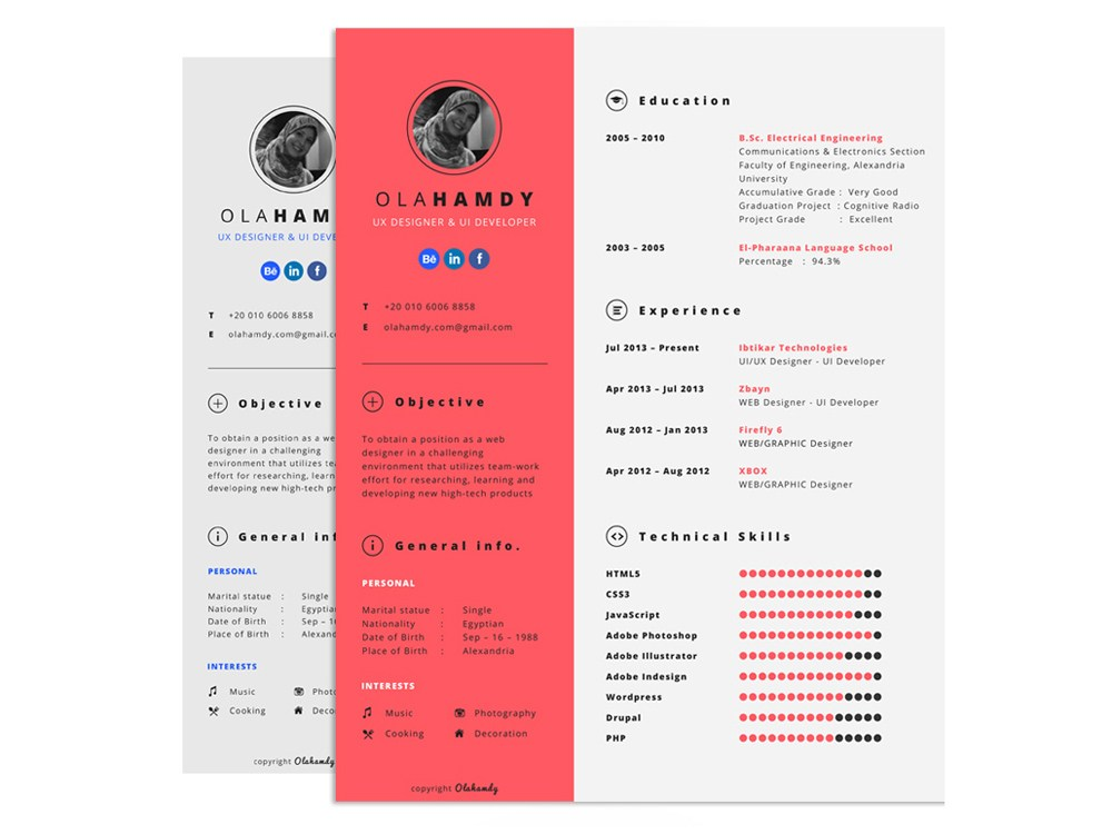 free interactive resume template with clean design samples production assistant sample Resume Interactive Resume Samples