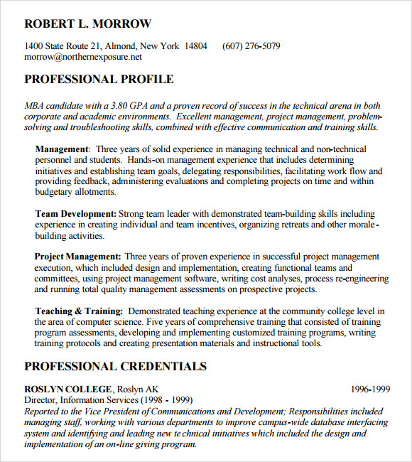 free mba resume templates in pdf sample objective for application federal government Resume Sample Resume Objective For Mba Application