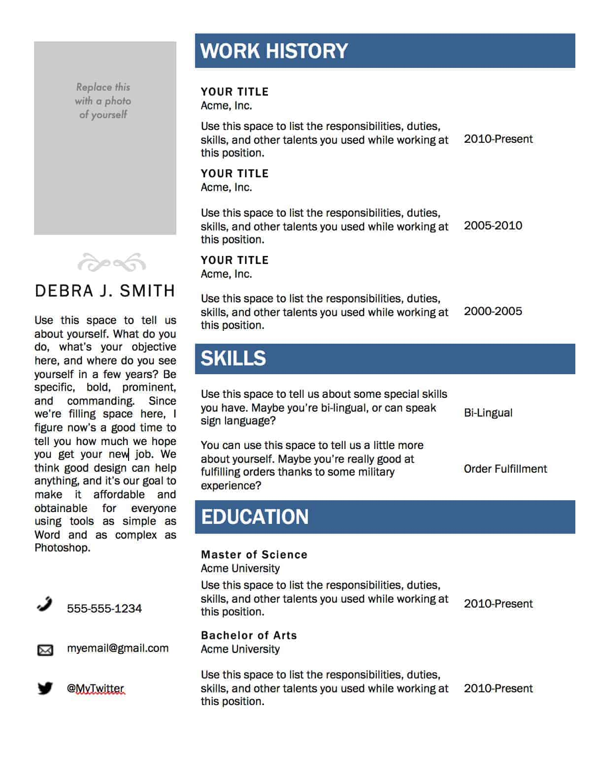 free microsoft word resume template affordable marketing and web design in indianapolis Resume Resume Without Microsoft Word