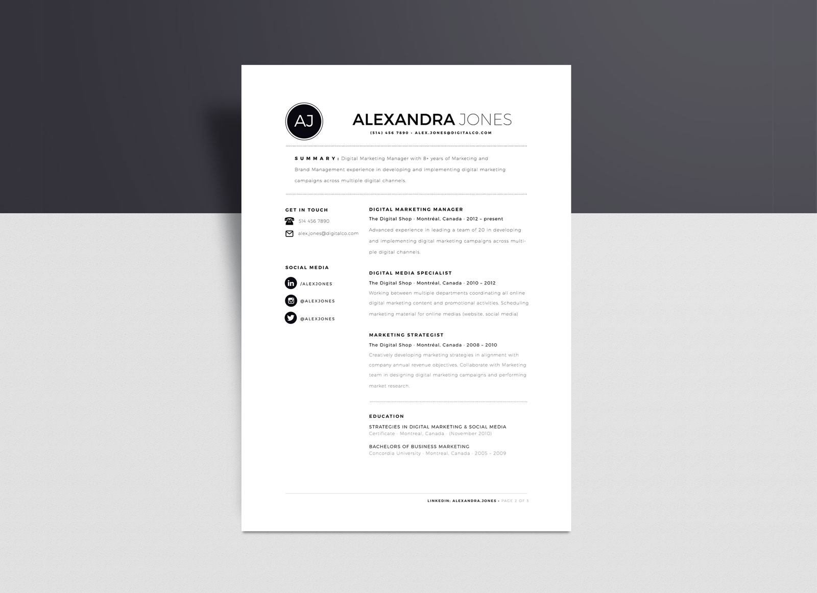 free minimalist resume template in word format good design minimalistic objective portion Resume Resume Minimalist Design