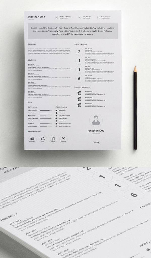free minimalistic cv resume templates with cover letter template design graphic Resume Free Minimalist Resume Template Word