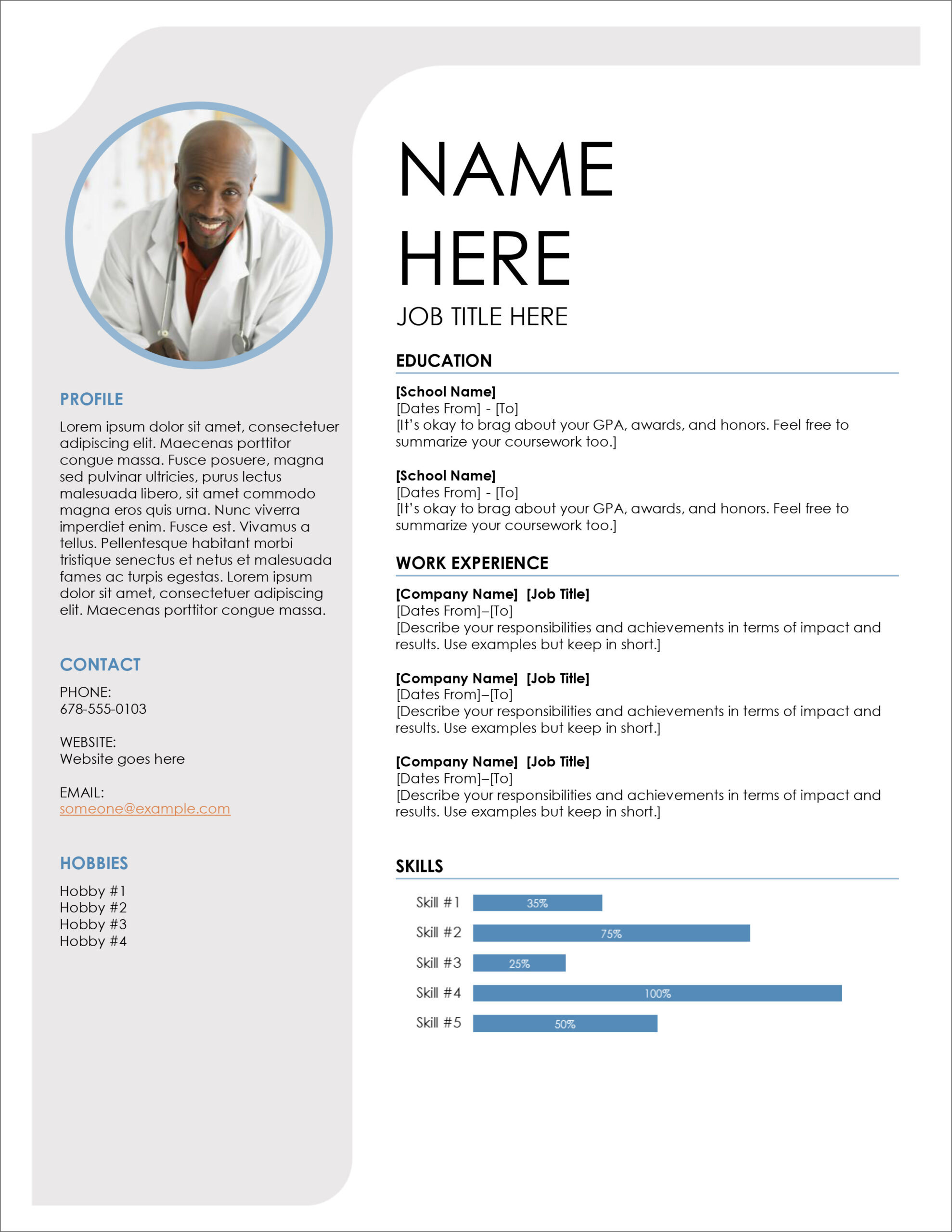 free modern resume cv templates minimalist simple clean design layout microsoft template Resume Resume Layout Free Download