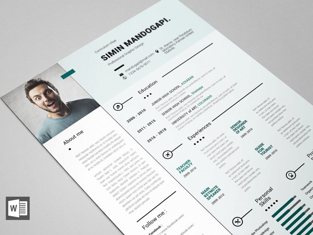 free modern resume template for word resumekraft microsoft templates 1000x750 best Resume Microsoft Word Resume Templates Modern