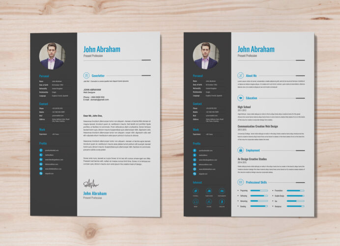 free professional resume template cover design in word good fillable warrant officer Resume Professional Resume Design