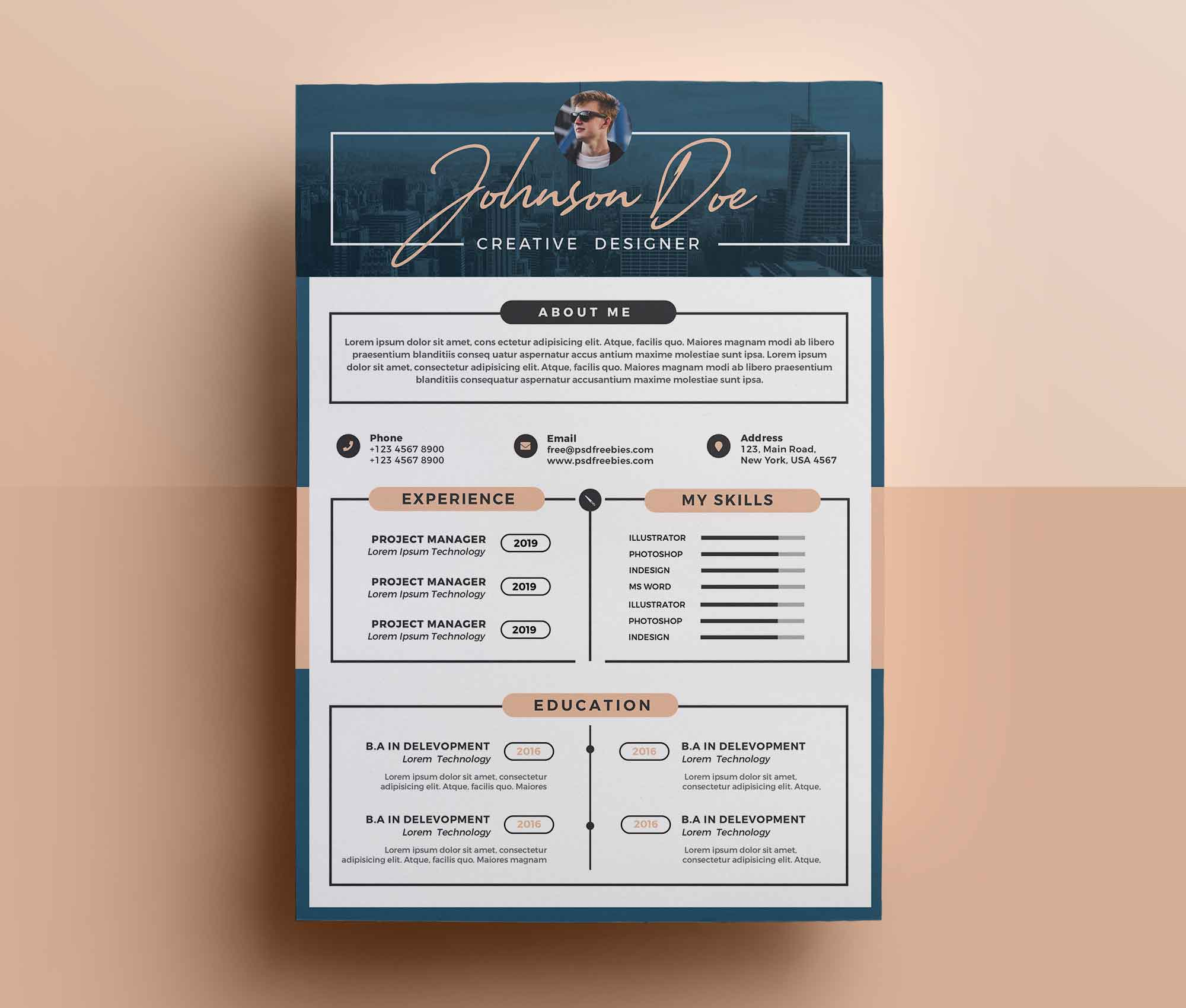free professional resume template design sample skills and qualifications example word Resume Professional Resume Design