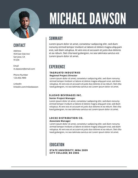 free professional resume templates downloadable lucidpress headshot and sample level byu Resume Headshot And Resume Sample