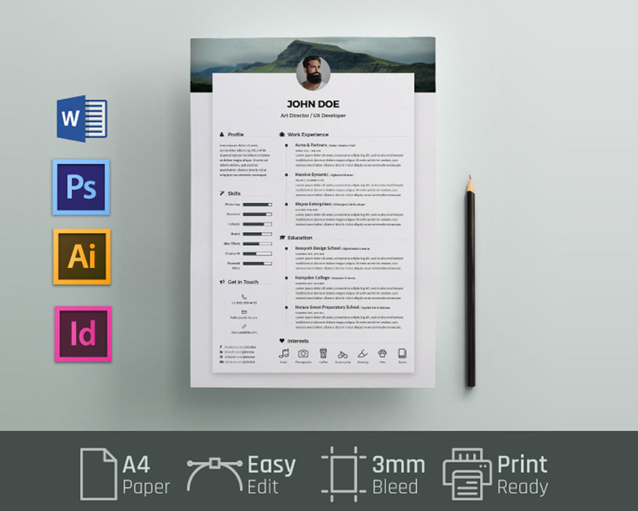 free resume cv template with word format resumekraft microsoft templates ms logistics Resume Free Microsoft Word Resume Templates