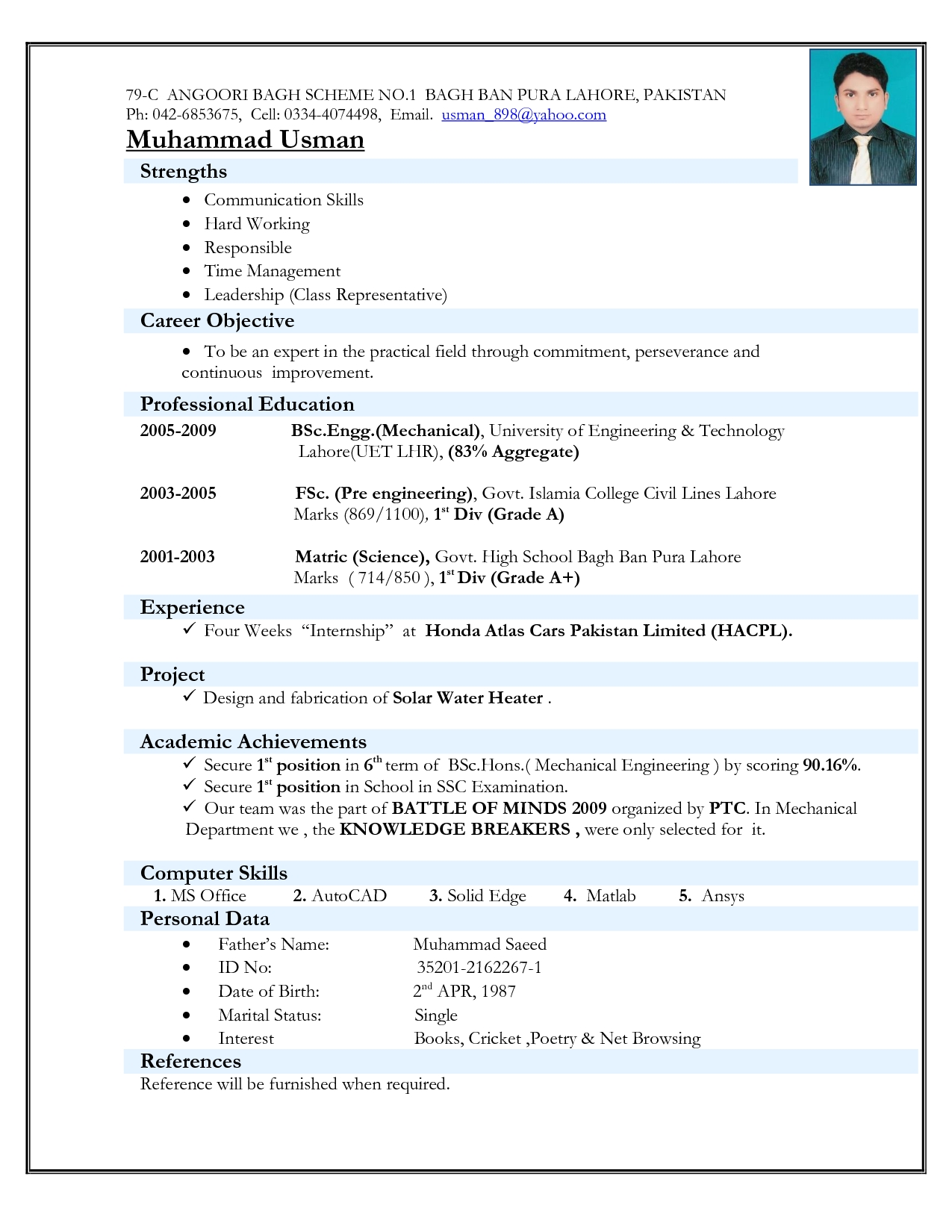 free resume format for freshers writing service my blog with photo machine shop Resume Free Download Resume Format For Freshers With Photo