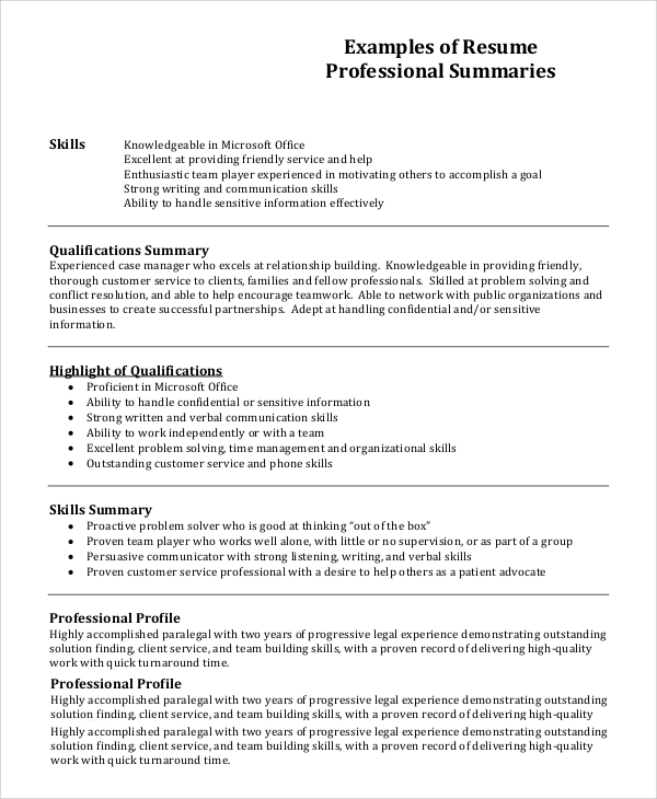 free resume profile samples in pdf ms word good for examples professional example1 Resume Good Profile For Resume Examples