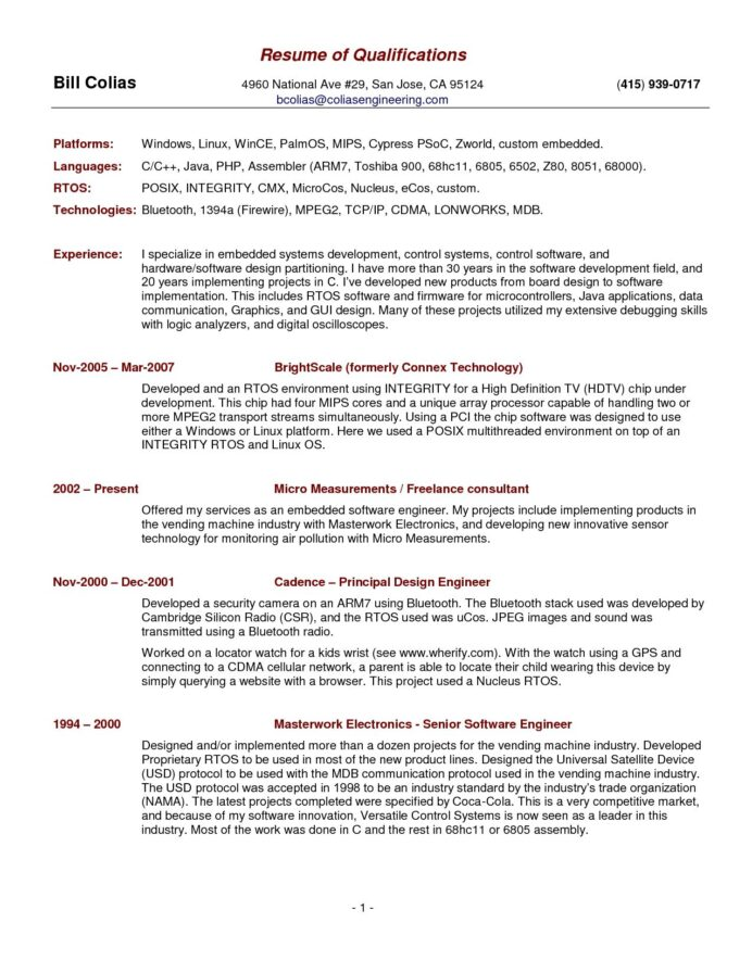 free resume template summary qualifications skills professional examples highlights of on Resume Highlights Of Qualifications On Resume