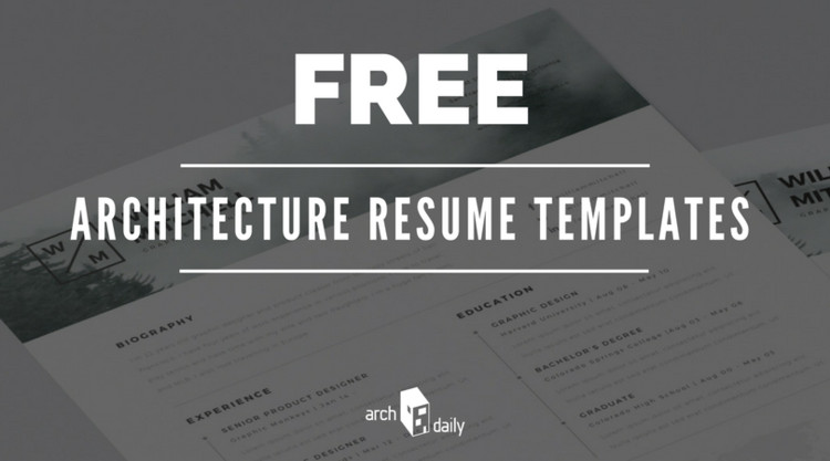 free resume templates for architects archdaily architecture firm option activities on Resume Architecture Firm Resume