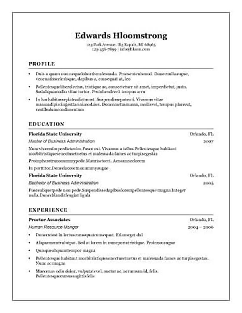 free resume templates for open office libreoffice and ms word microsoft traditional Resume Microsoft Office Resume Templates