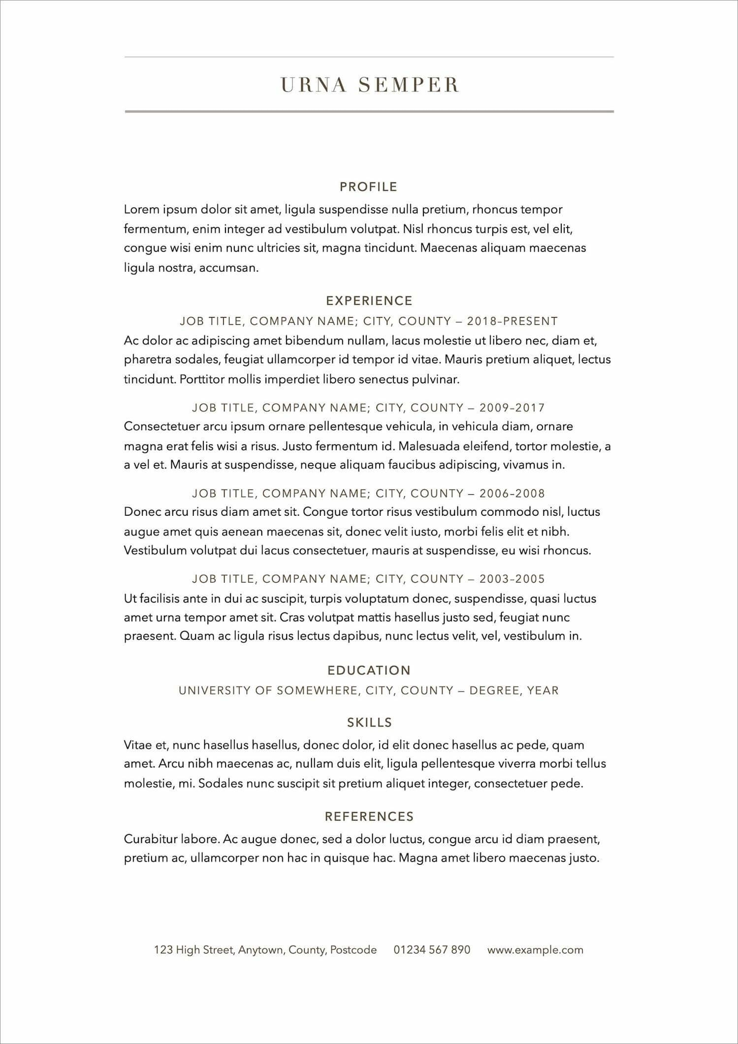 free resume templates for to now sample professional template new admin manager examples Resume Free Sample Professional Resume Template
