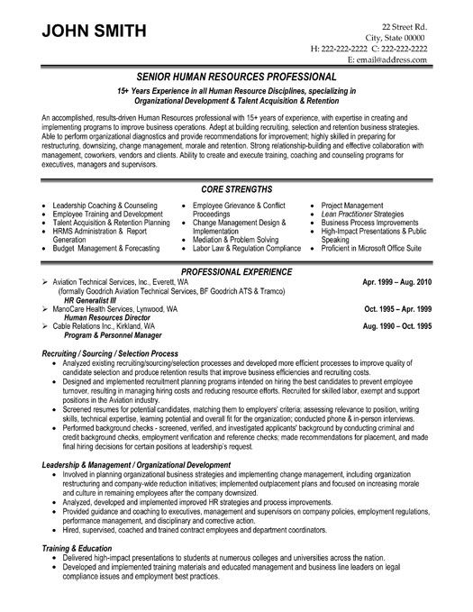free resume templates human resources hr director sample entry level software engineer Resume Human Resources Director Resume Sample