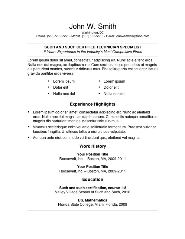 free resume templates primer magazine template6 does now cost money federal template band Resume Primer Magazine Resume Templates