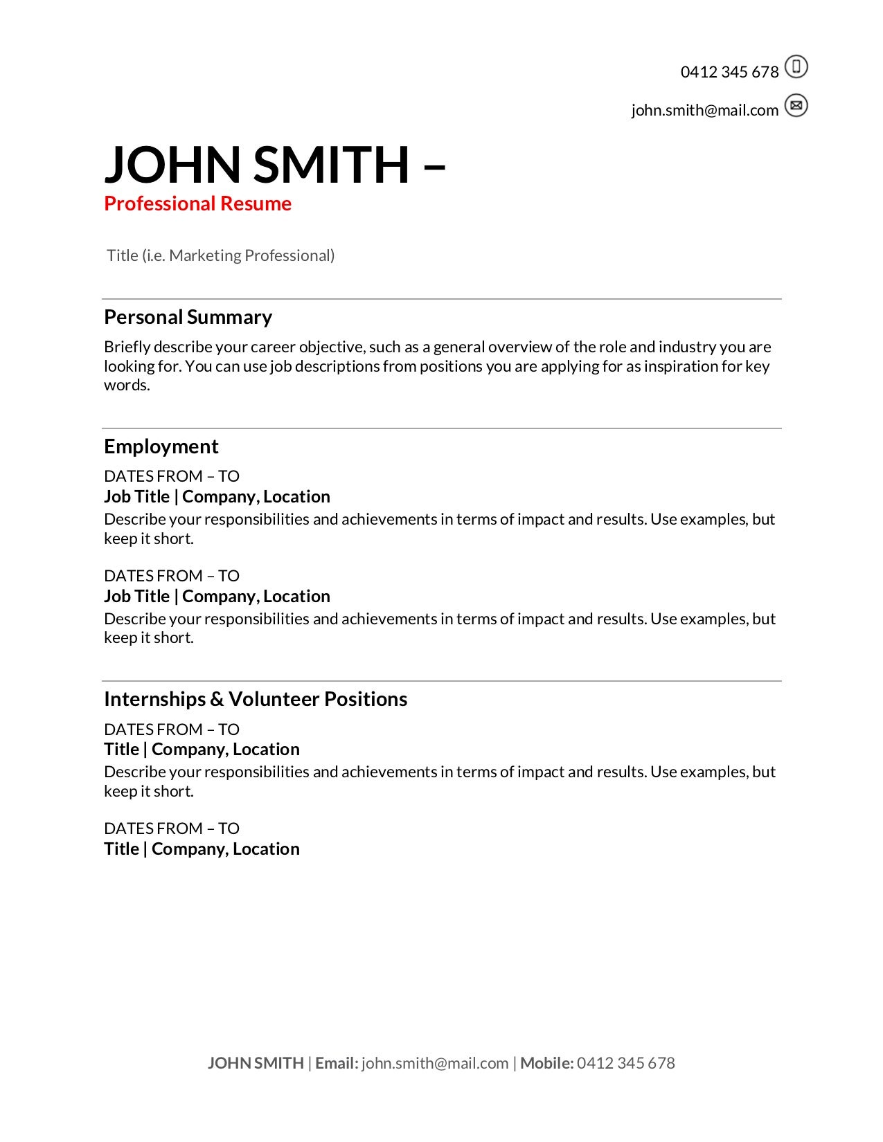 free resume templates to write in training au for one term job clear google drive putting Resume Resume For One Long Term Job
