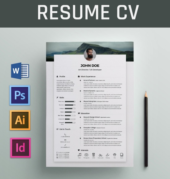 free resume word templates to impress your employer responsive muse widgets creative Resume Creative Resume Word Template Free Download