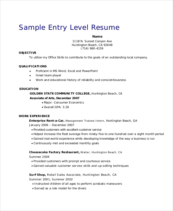 free retail resume objective templates in ms word pdf profile examples for entry level Resume Resume Profile Examples For Retail
