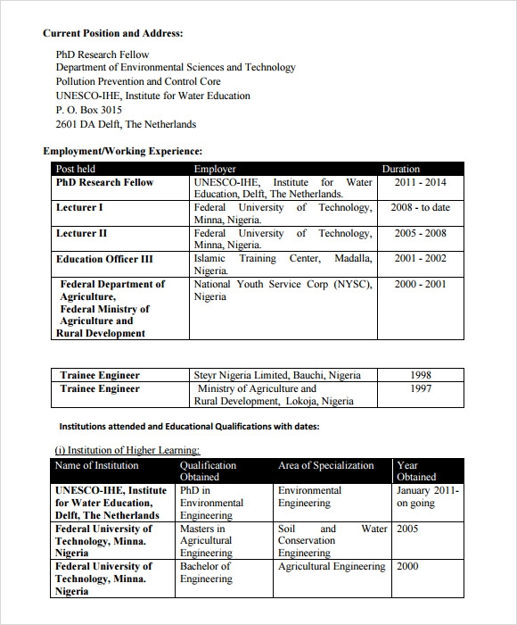free sample agriculture resume templates in pdf for agricultural engineering graduates Resume Resume Sample For Agricultural Engineering