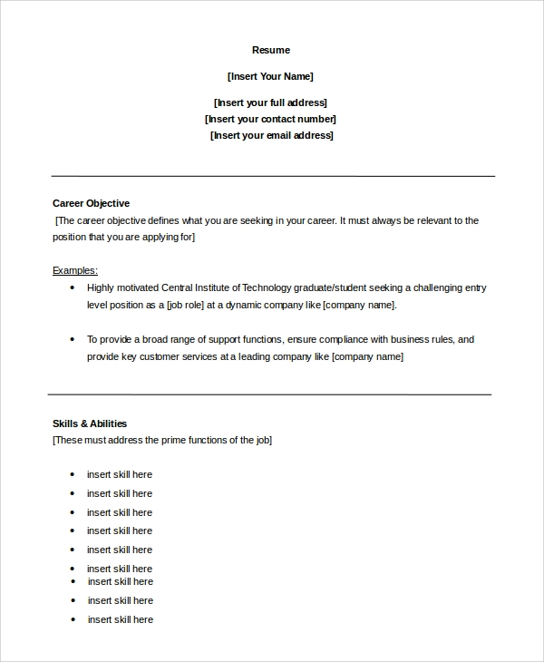 free sample customer service objective templates in pdf ms word for resume career virtual Resume A Objective For A Resume Customer Service