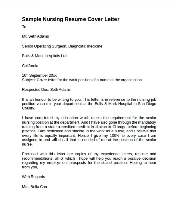 free sample nursing cover letter templates in pdf for resume examples template data entry Resume Cover Letter For Nursing Resume Examples