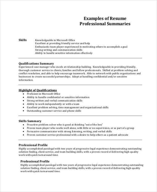 free sample professional resume templates in pdf ms word good profile for examples Resume Good Profile For Resume Examples