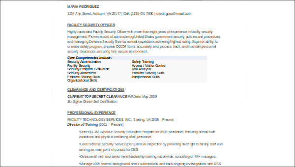 free sample security officer resume templates in ms word pdf examples resumes agile Resume Security Officer Resume Examples