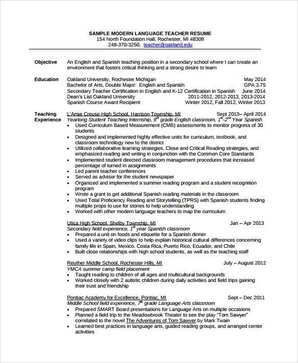 free sample tutor resume templates in pdf word another for on modern language industrial Resume Another Word For Tutor On Resume