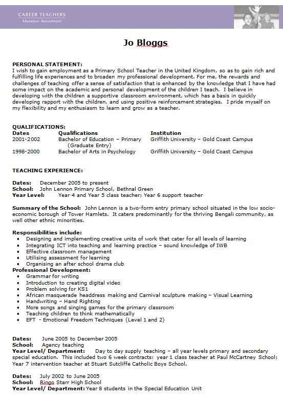 free teacher cv template collection edit in ms word prospective resume career the best Resume Prospective Teacher Resume