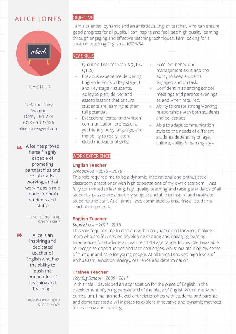 free teacher cv template collection edit in ms word resume certified surgical Resume Teacher Resume Template Free