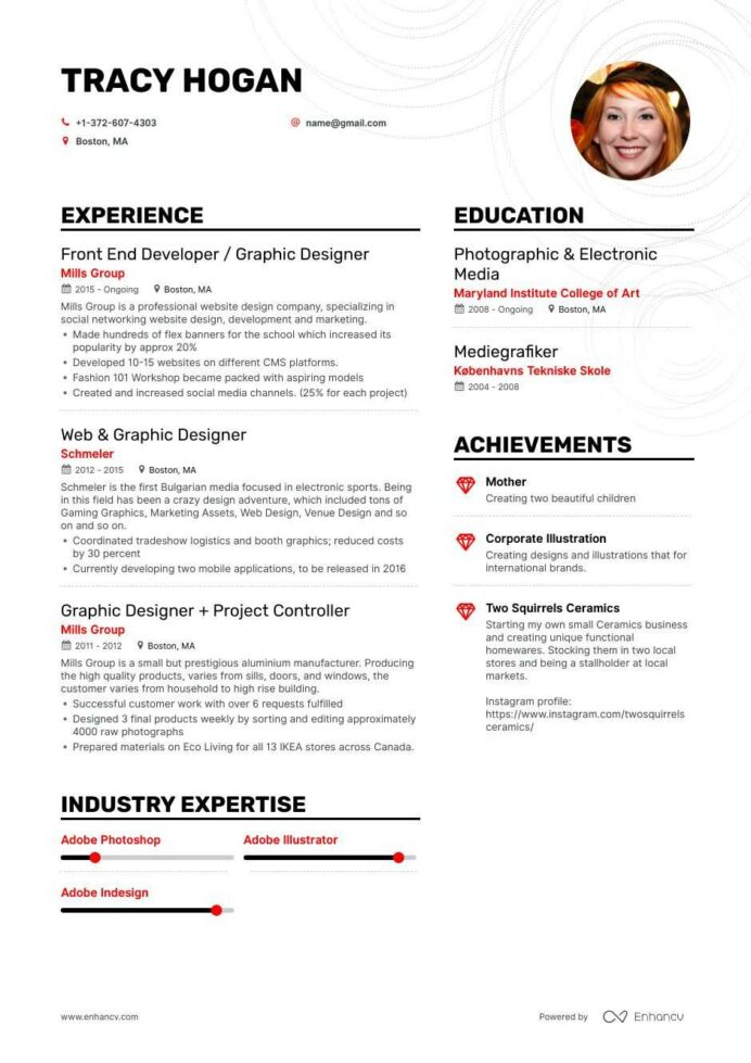 freelance graphic designer resume examples pro tips featured enhancv objective for Resume Freelance Graphic Designer Resume