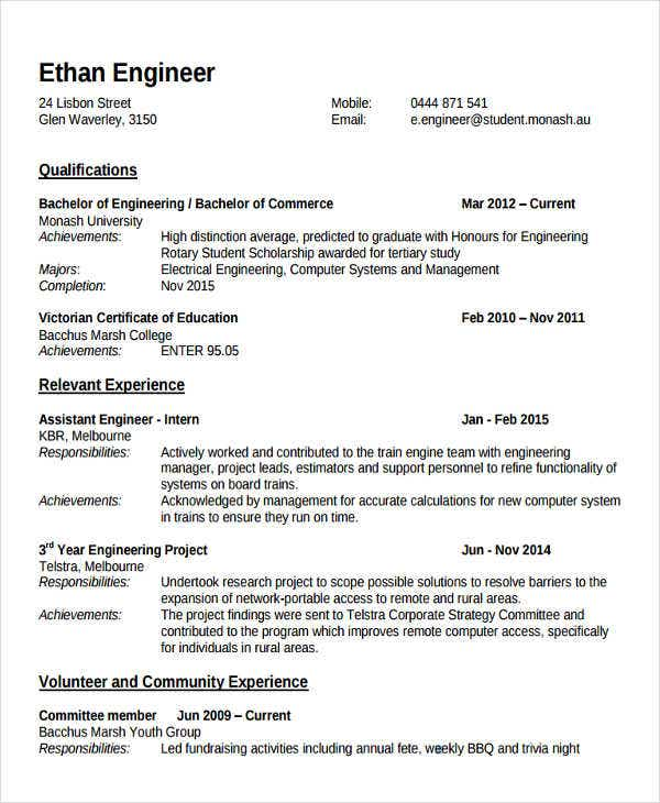 fresher lecturer resume templates free word pdf format premium for post engineering Resume Resume Format For Lecturer Post
