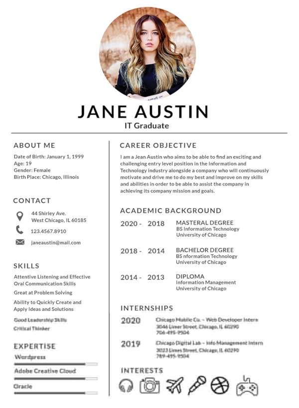 fresher resume templates pdf free premium format for freshers with photo basic template Resume Free Download Resume Format For Freshers With Photo