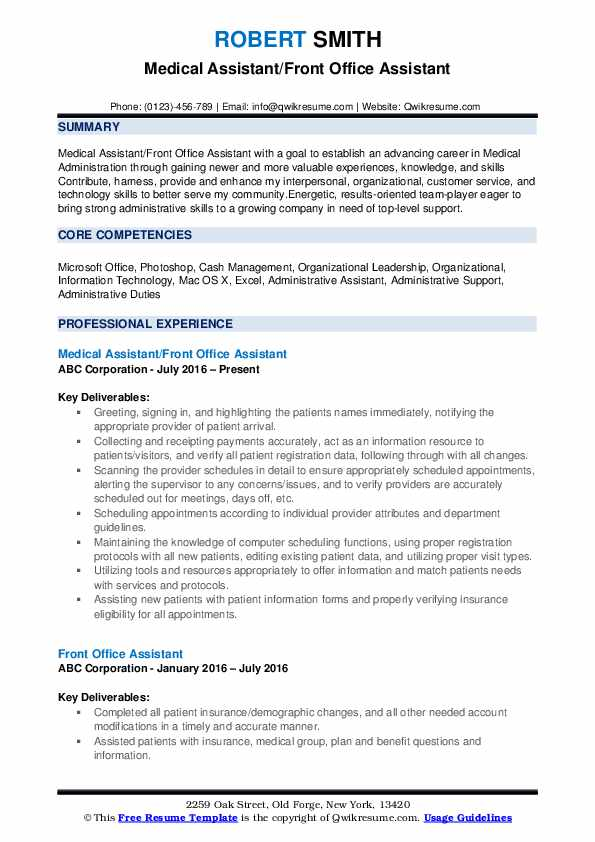 front office assistant resume samples qwikresume format for pdf project coordinator Resume Resume Format For Front Office Assistant