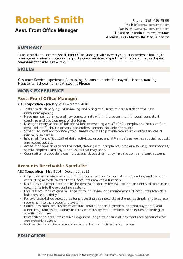 front office manager resume samples qwikresume desk pdf project engineer example high Resume Front Desk Manager Resume