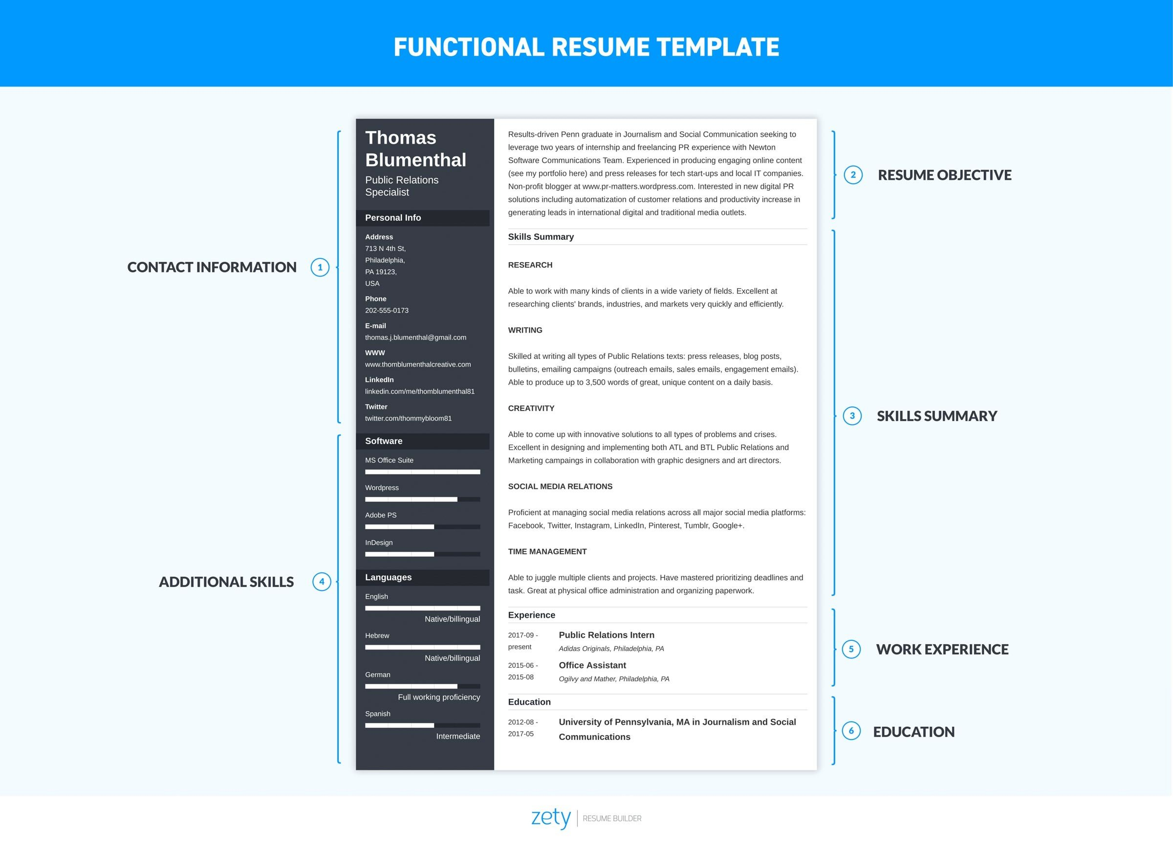 functional resume examples skills based templates core template for word oracle project Resume Core Functional Resume Template For Word