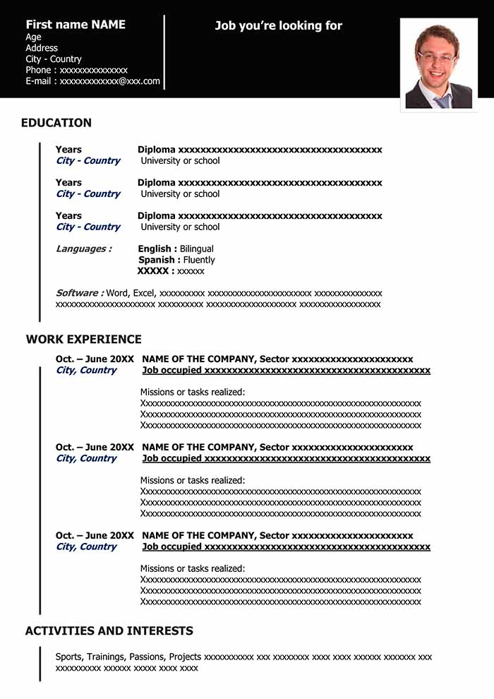 functional resume in word for free samples template organized black cover letter graphic Resume Functional Resume Template Word
