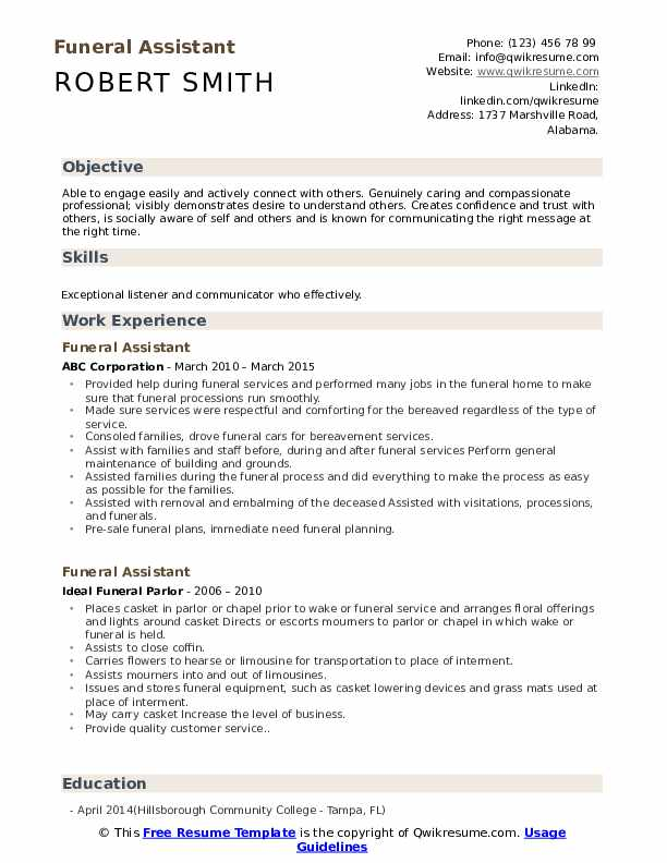 funeral assistant resume samples qwikresume home administrative pdf communications Resume Funeral Home Administrative Assistant Resume