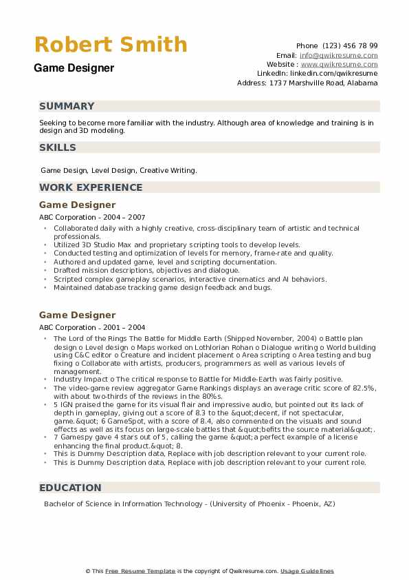 game designer resume samples qwikresume template pdf assistant superintendent examples Resume Video Game Resume Template
