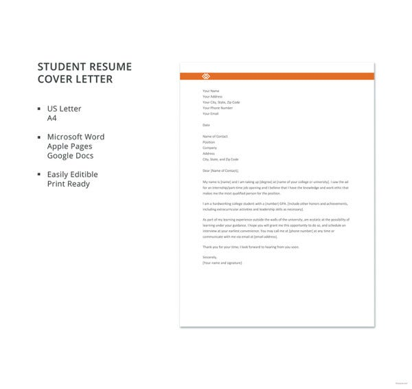 general cover letter templates pdf free premium resume sheet example student template Resume Resume Cover Sheet Example