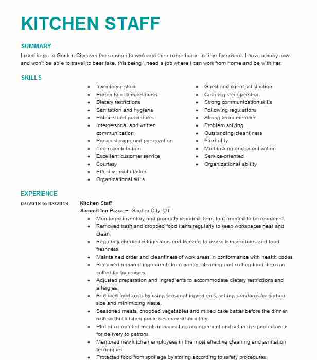 general kitchen staff resume example stars in the sky edmonds job description for lead Resume Kitchen Staff Job Description For Resume