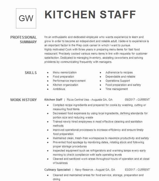 general kitchen staff resume example stars in the sky edmonds job description for Resume Kitchen Staff Job Description For Resume