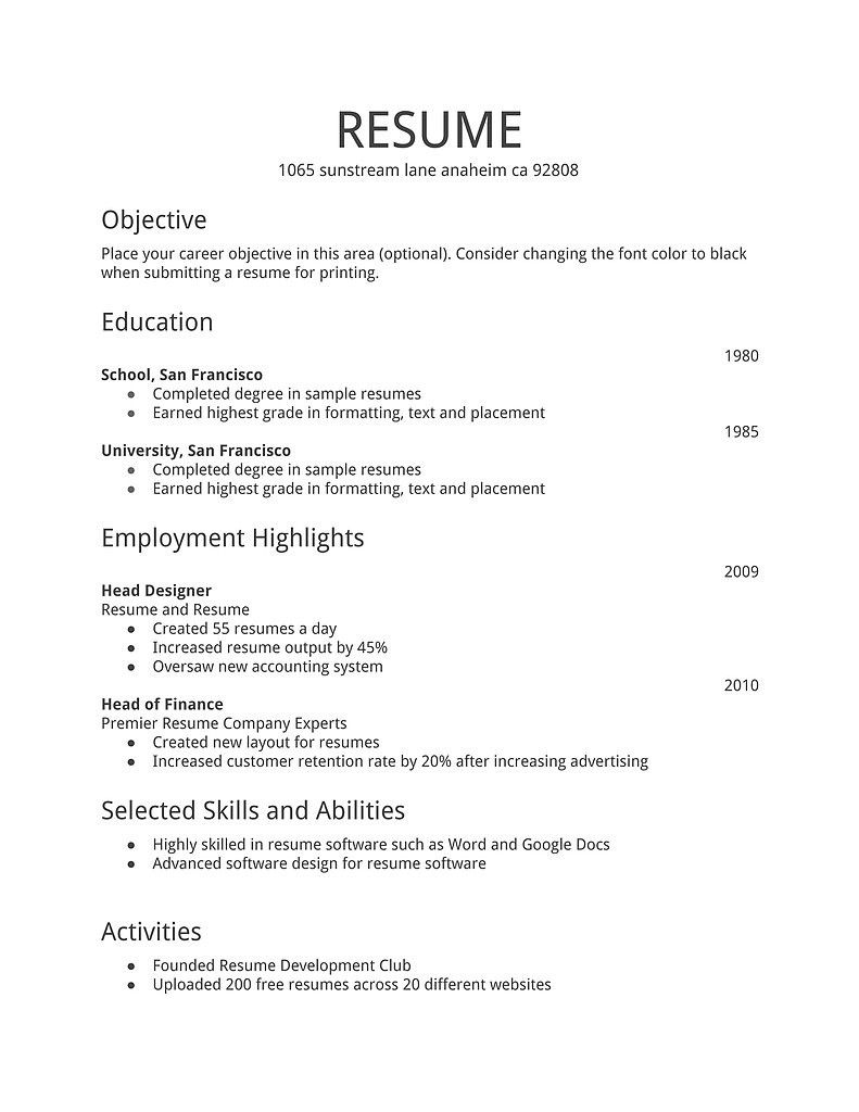 general resume template free first job examples simple mis executive example sulphur Resume General Resume Template