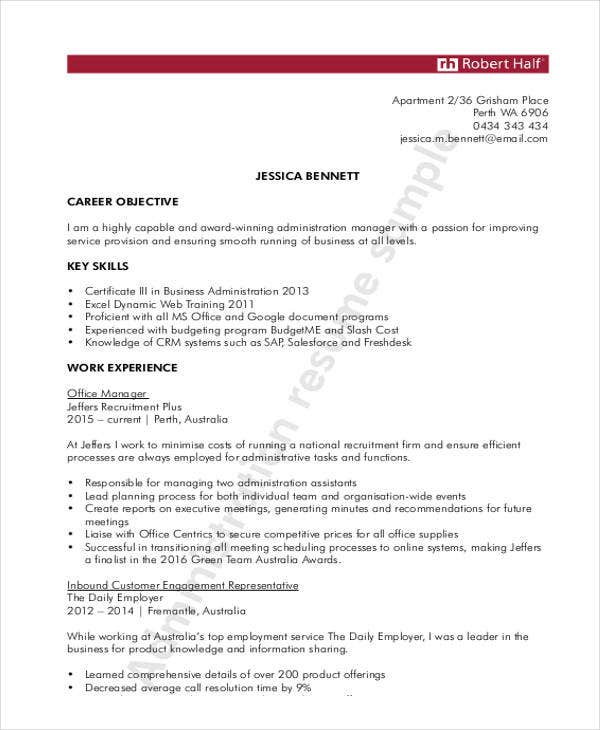 general resume templates pdf free premium template administration best answer for skills Resume General Resume Template