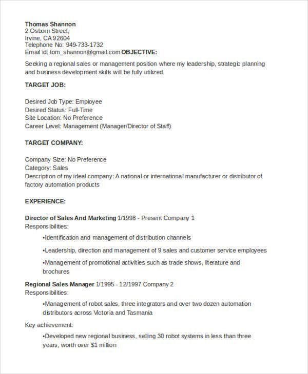 general resumes templates pdf free premium resume template manager1 retro bartender roles Resume General Resume Template