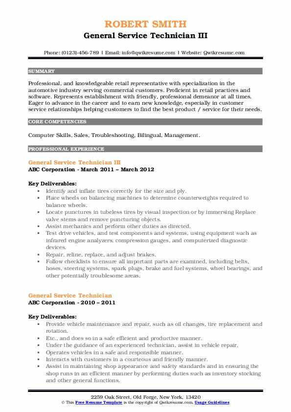 general service technician resume samples qwikresume pdf novel monster search surgical Resume General Service Technician Resume