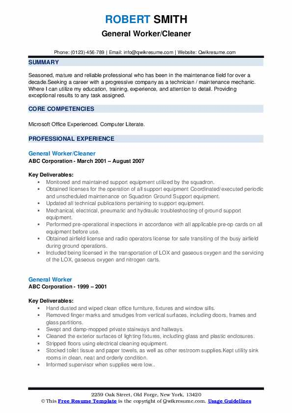general worker resume samples qwikresume template pdf english peer support specialist Resume General Resume Template